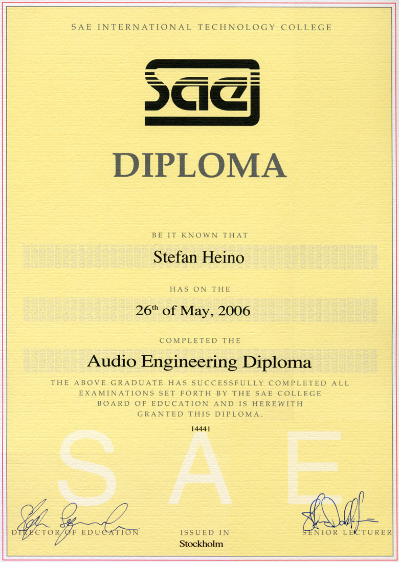 Audio Engineering Diploma